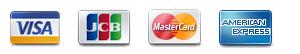 使用可能なクレジットカード画像